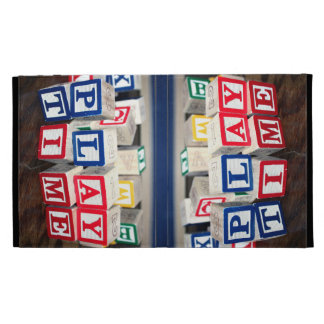 Childs Wooden Toy Blocks iPad Folio Cases