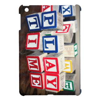 Childs Wooden Toy Blocks iPad Mini Case