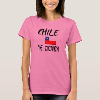 """Chile1 T-shirt de dama """"Chile me encanta"""" + bander"""