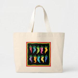 Chile Background Cartoon Jumbo Tote Bag