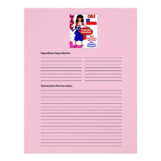 Chile blank casseroles recipe cards customized letterhead