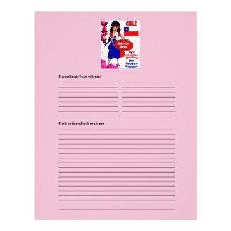 Chile blank egg recipe cards letterhead design