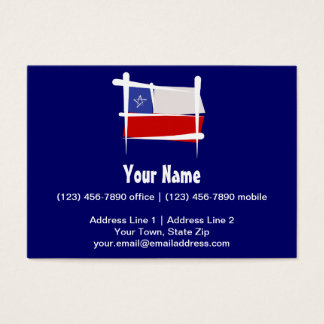 Chile Brush Flag Business Card