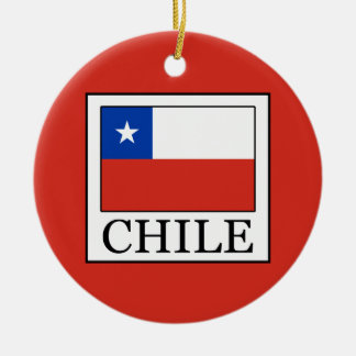 Chile Ceramic Ornament