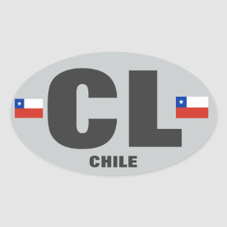 Chile CL Euro-style Oval Sticker