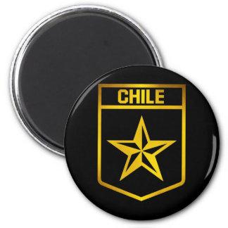 Chile Emblem 2 Inch Round Magnet