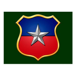 Chile Escudo 2010 flag Chilean shield badge Postcard