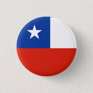 Chile Flag 1 Inch Round Button