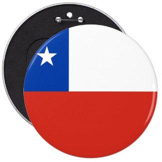 Chile Flag 6 Inch Round Button