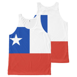 Chile Flag All-Over-Print Tank Top