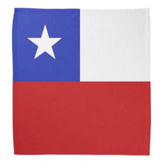 Chile Flag Bandana