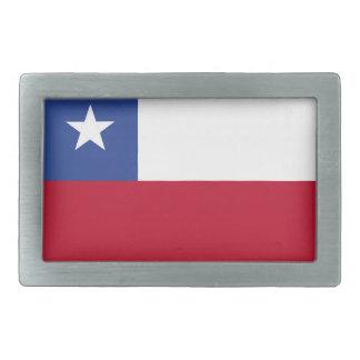 Chile flag belt buckles