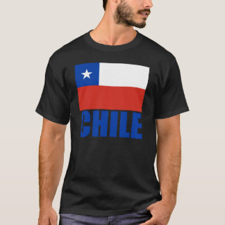 Chile Flag Blue Text T-Shirt