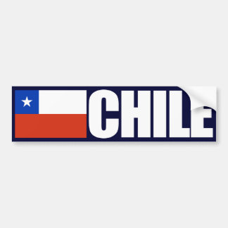 Chile Flag Bumper Sticker