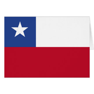 Chile flag card