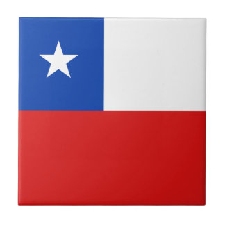 Chile Flag Ceramic Tile