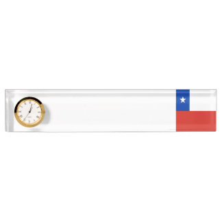 Chile Flag Desk Name Plate