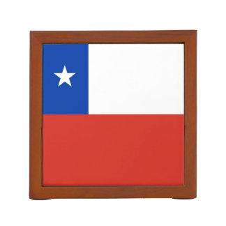 Chile Flag Desk Organizer
