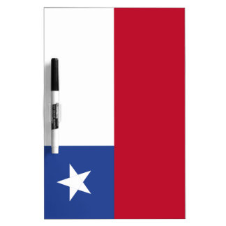 Chile flag dry erase whiteboard