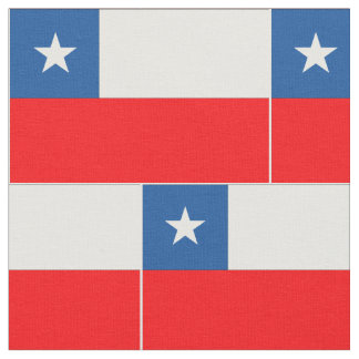 Chile Flag Fabric