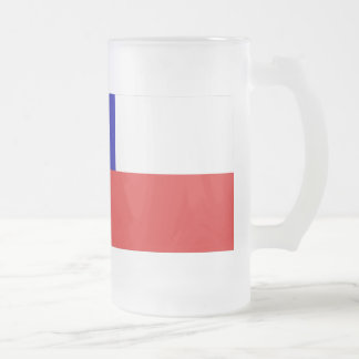 Chile Flag Frosted Glass Beer Mug