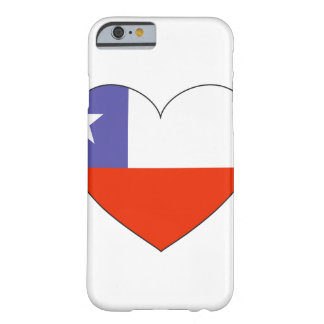 Chile Flag Heart Barely There iPhone 6 Case