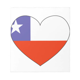 Chile Flag Heart Notepad