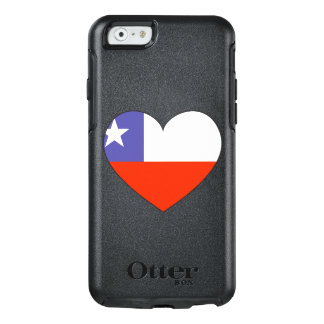Chile Flag Heart OtterBox iPhone 6/6s Case