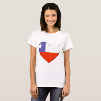 Chile Flag Heart T-Shirt