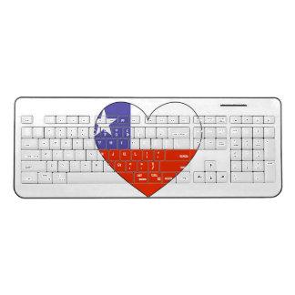 Chile Flag Heart Wireless Keyboard