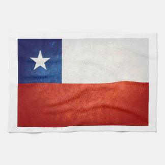 Chile Flag; Kitchen Towel