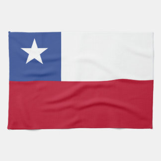 Chile flag kitchen towels