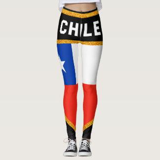 Chile Flag Leggings