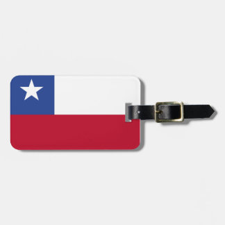 Chile flag luggage tag