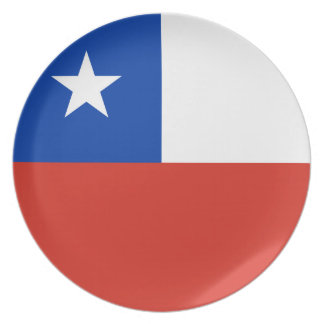 Chile Flag Plate