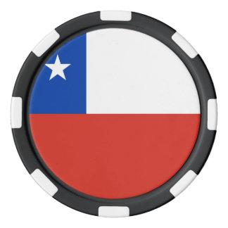 Chile Flag Poker Chips