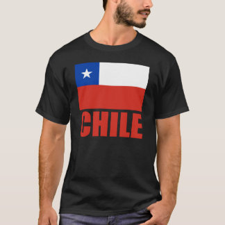 Chile Flag Red Text T-Shirt