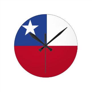 Chile flag round clock