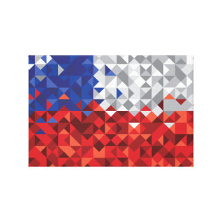 Chile Flag, Simple Chilean Colors Art Canvas