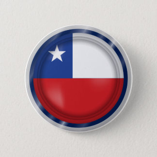 Chile Flag, Simple Chilean Colors Button