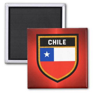Chile Flag Square Magnet