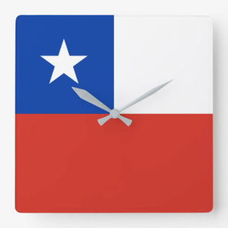 Chile Flag Square Wall Clock