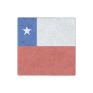 Chile Flag Stone Magnets