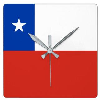 Chile Flag Wall Clocks