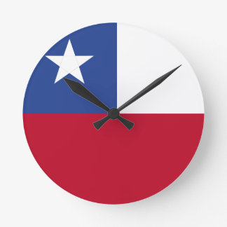 Chile flag wallclock