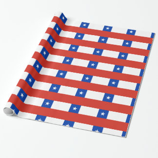 Chile Flag Wrapping Paper