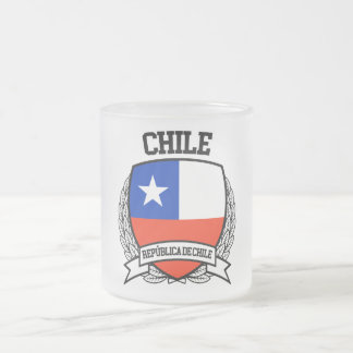 Chile Frosted Glass Coffee Mug