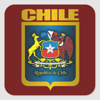 """Chile Gold"" Square Sticker"