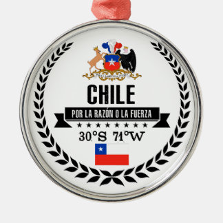 Chile Metal Ornament