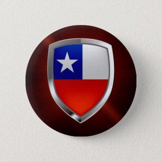 Chile Mettalic Emblem 2 Inch Round Button
